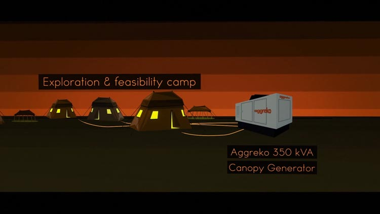 Modern Mining investigation camp illustration