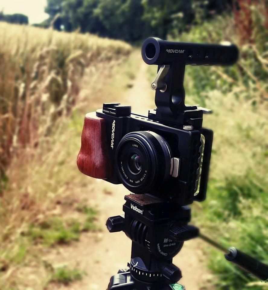 Black Magic Pocket Cinema Camera (BMPCC)with Movcam cage rig