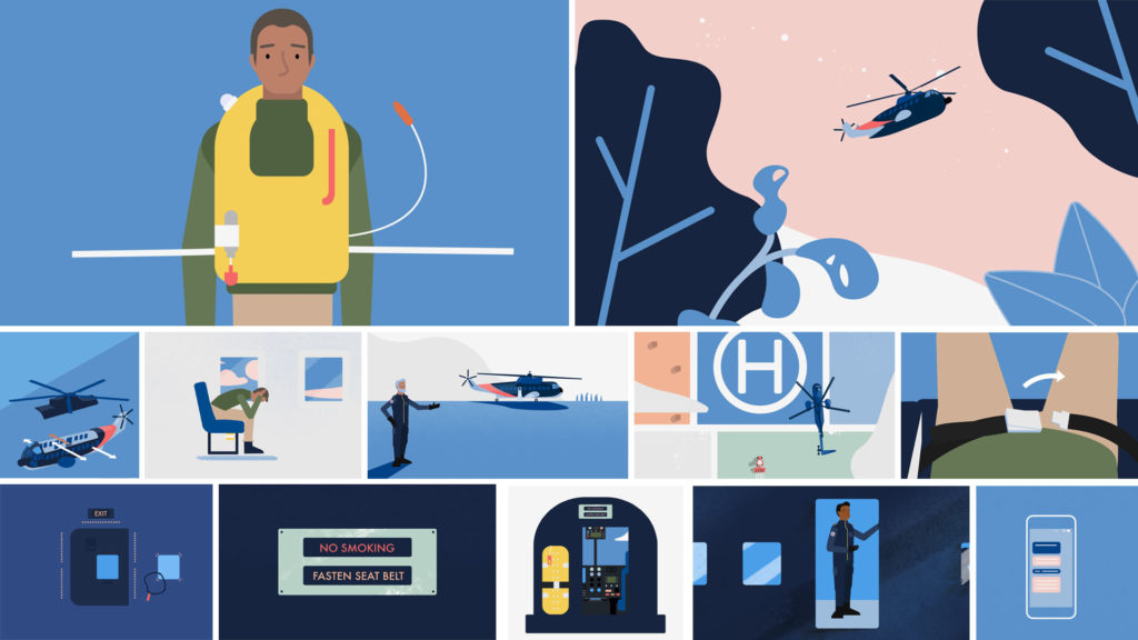 Flight safety animation