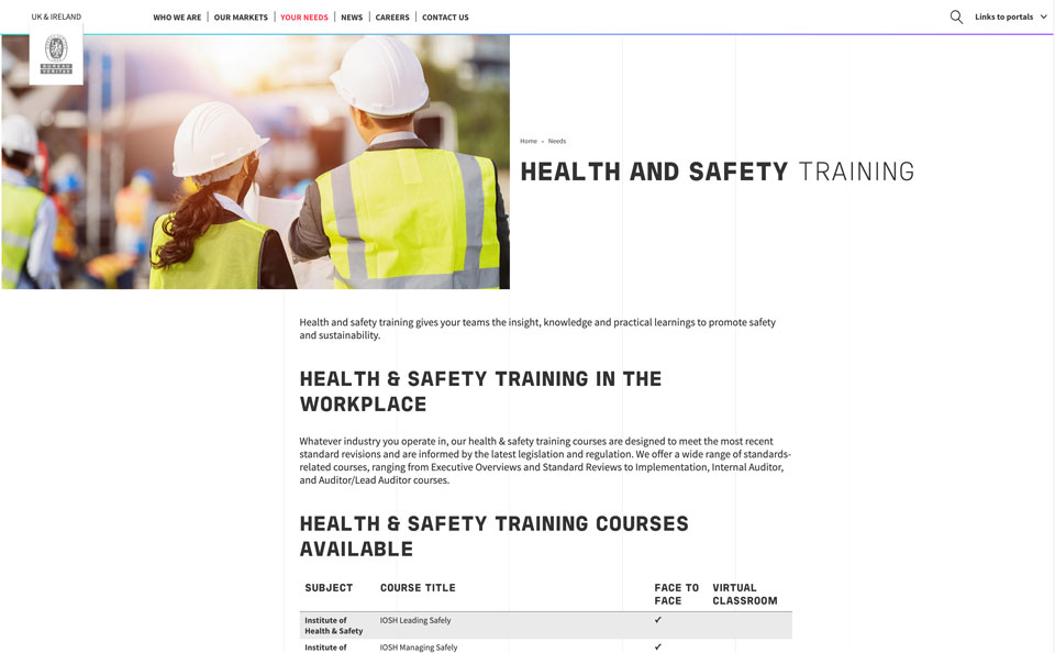 Bureau Veritas Website - Global HSE training providers