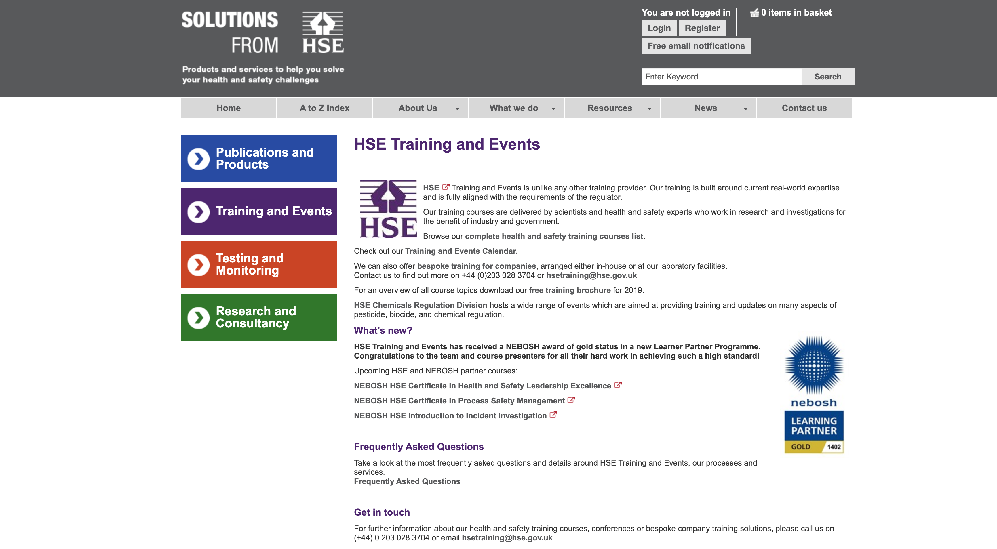 Government Agency in Health and Safety Training