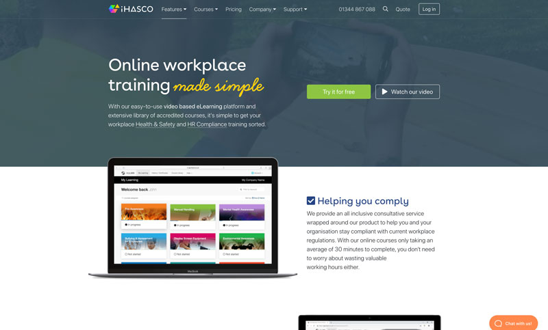 iHasco elearning Health and Safety Training