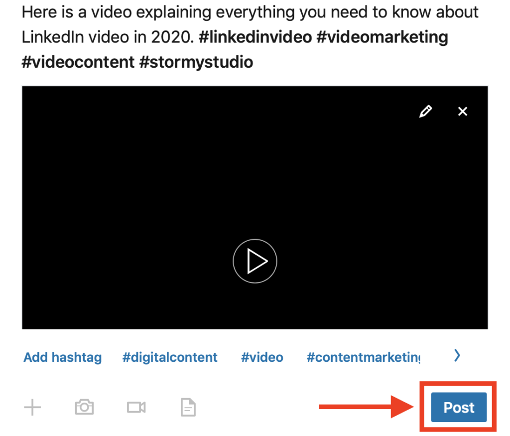How to post a LinkedIn video via computer